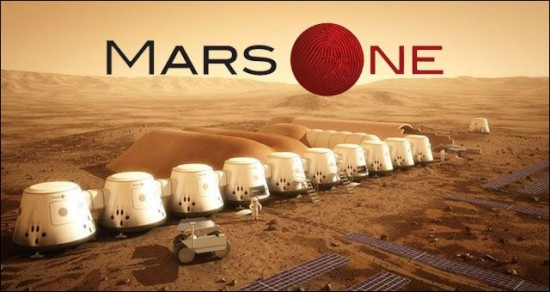 Artist rendition of the Mars One colony (taken from oditycentral.com via Bing Images)