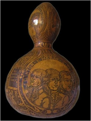 Gourd containing handkerchief thought to be stained with blood of Louis XVI (taken from u.tearn.com via Bing Images).
