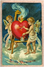 Antique Valentine's card (taken from Wikipedia).