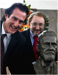 Left-to-right: Craig Mello, Andrew Fire, and Alfred Nobel (taken from ambassadors.net via Bing Images).