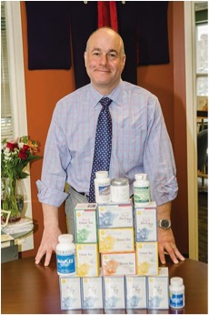 Anthony Talalay should be happy about the very promising clinical data reported for a product sold by his company, Brassica Protection Products. Credit: Harry Bosk; taken from bizjournals.com.