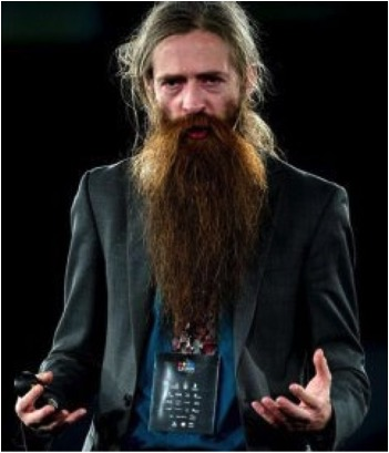 """Basically, the body does have a vast amount of inbuilt anti-ageing machinery; it's just not 100% comprehensive, so it allows a small number of different types of molecular and cellular damage to happen and accumulate."" One of many provocative quotes by Aubrey de Grey pictured above. Taken from floridahillbilly.com"