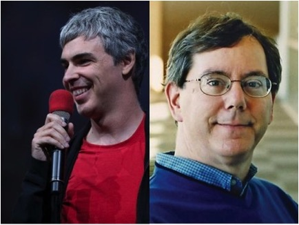 Larry Page and Arthur Levinson. Taken from examiner.com